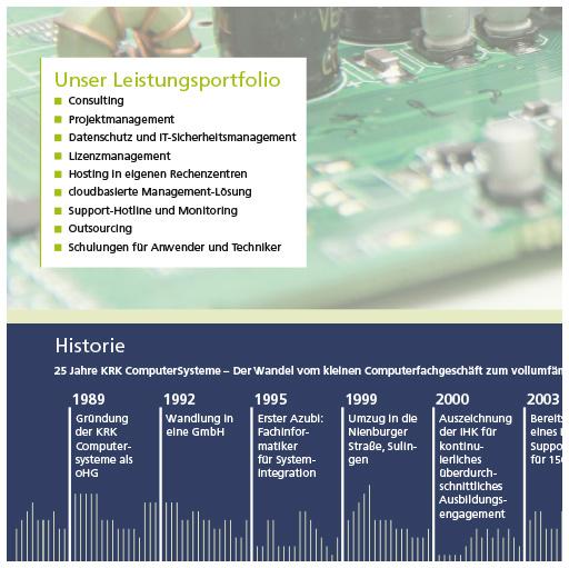 Unternehmensbroschüre:   KRK-Computersysteme