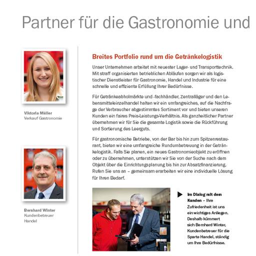 Unternehmensbroschüre: Getränke Müller