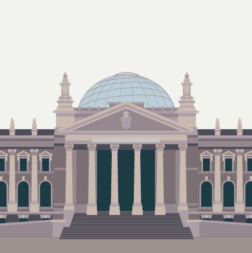 Vector-Grafik: Berliner Gebäude